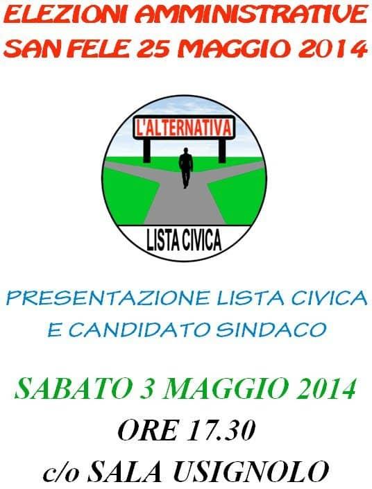 Presentazione lista civica e candidato sindaco