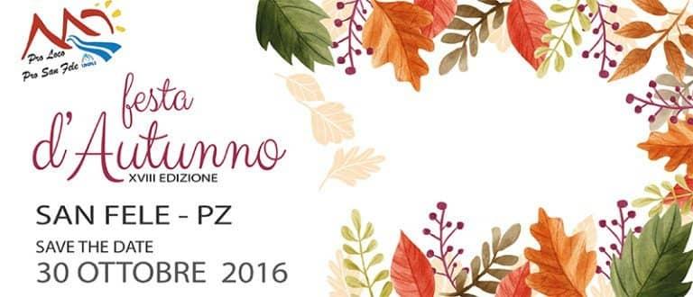 """San Fele, domenica 30 ottobre è """"Festa d'Autunno"""""""